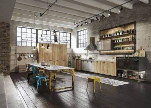 Kitchen Set Dengan Gaya Desain Industrial - Lemari Baju Minimalis